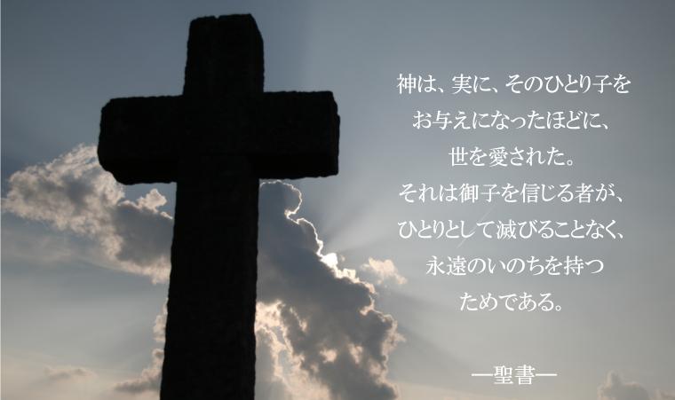神はそのひとり子を遣わし、その方によって私たちに、いのちを得させてくださいました。 ここに、神の愛が私たちに示されたのです。 聖書
